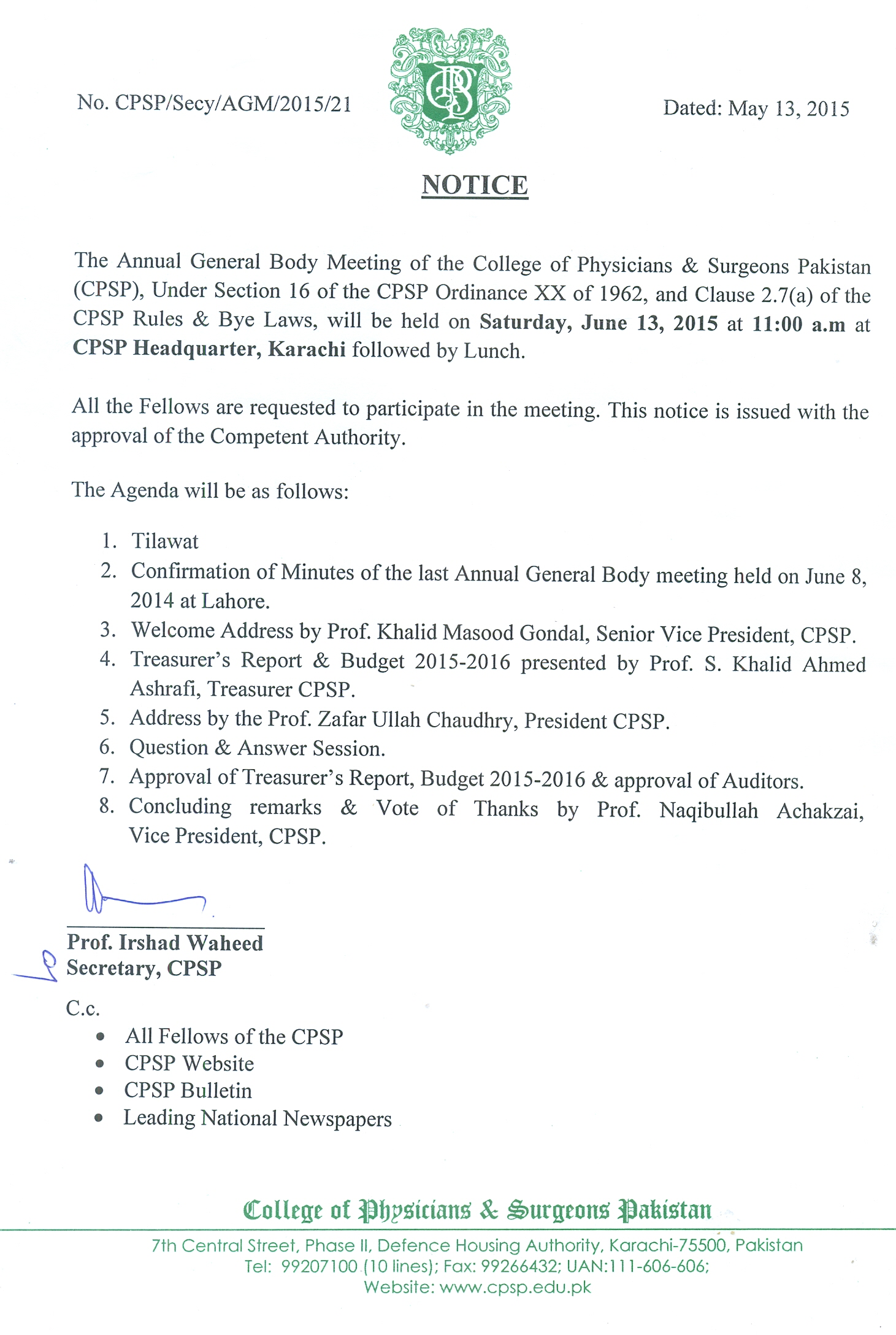 College of Physicians and Surgeons Pakistan College of Physicians and Surgeons Pakistan View File