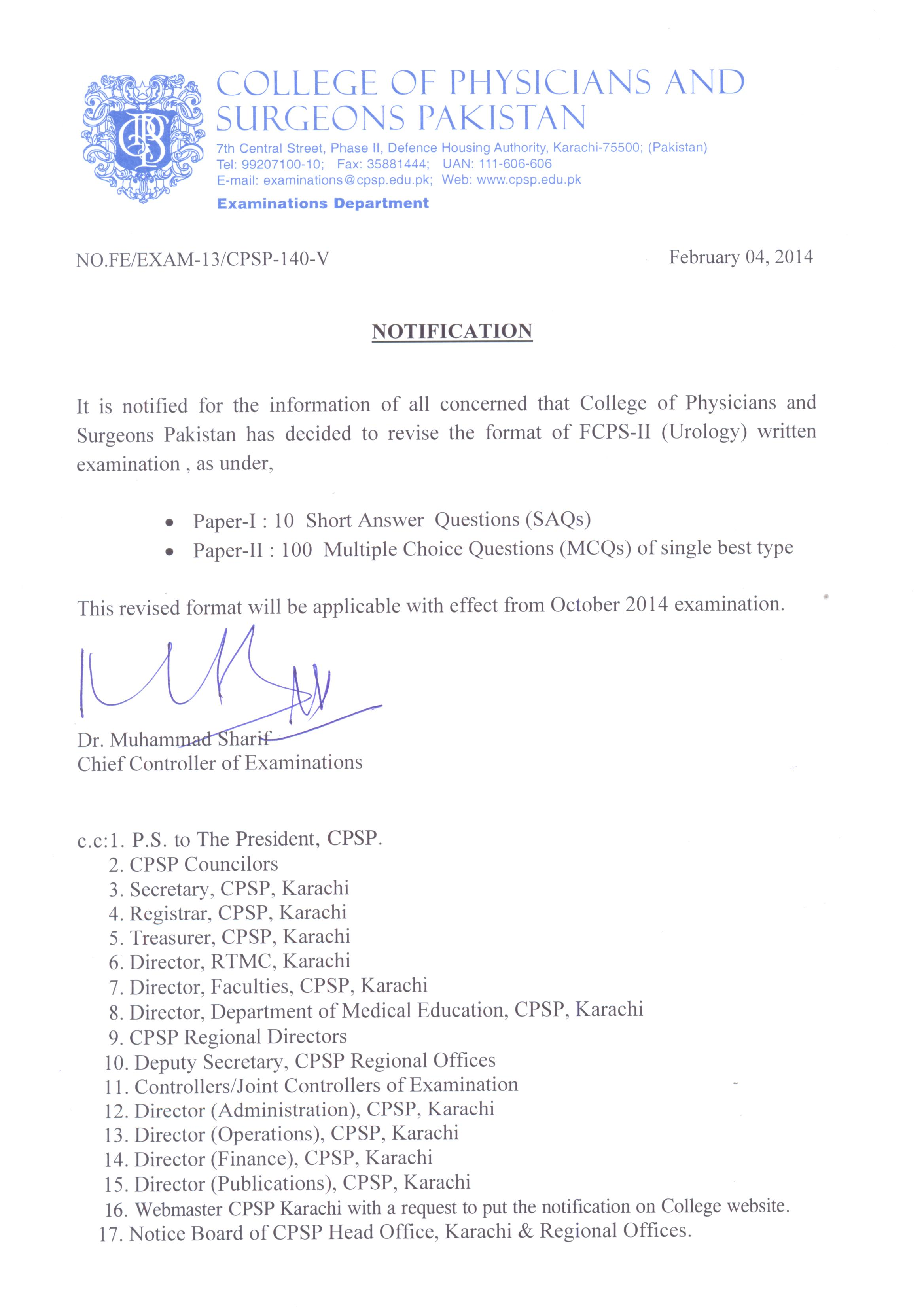College of physicians and surgeons pakistan 2014 yelopaper Images